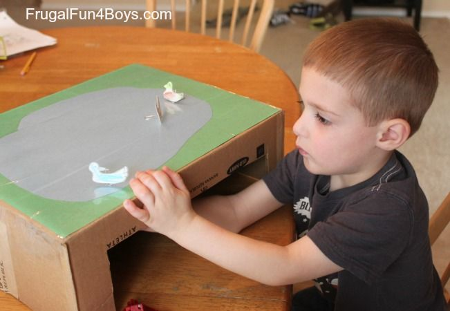 Make a Magnetic Duck Pond - Frugal Fun For Boys