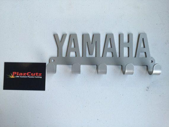 Yamaha text Key Holder Rack CNC Plasma cut & powder coated choice of colours