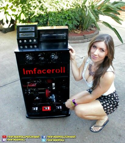 MSI gaming cabinet, custom liquid cooled PC and my beautiful girlfriend   www.facebook.com/imfacerollgaming www.youtube.com/imfacerollpcgaming