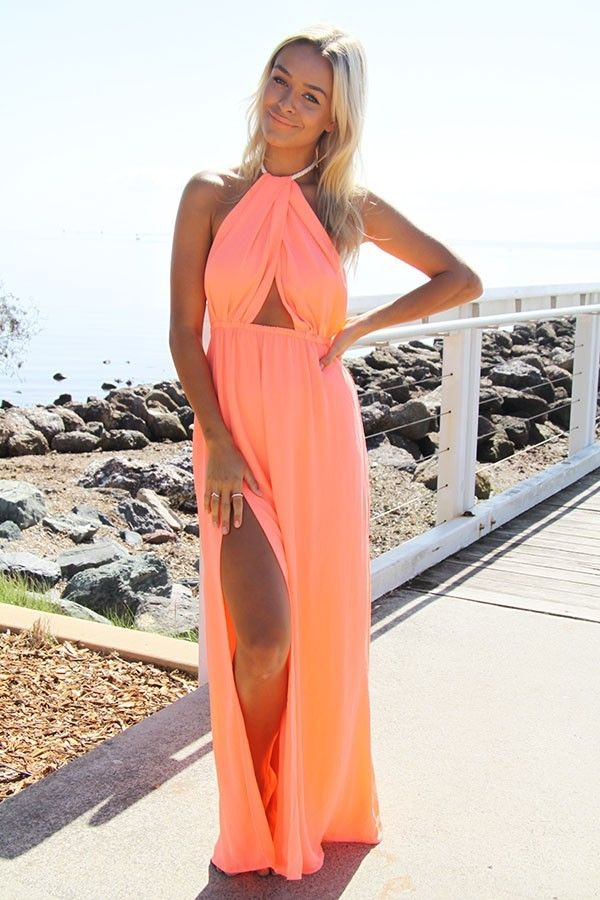 Coral Maxi Dress | www.ustrendy.com
