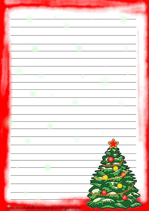 Atividade Para Imprimir Modelo De Papel De Carta Para O Natal Modelos De Papel De Carta Para Papa Carta Para O Papai Carta Para Papai Noel Para Imprimir Natal