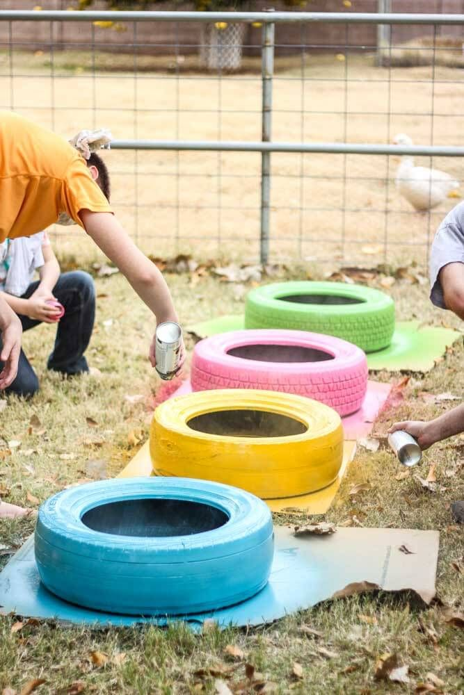 25 Best Ideas About Painted Tires On Pinterest