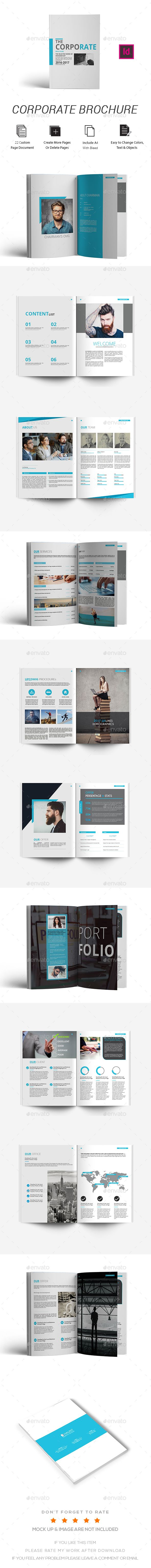 Brochure Design 22 Pages A4 Template InDesign INDD