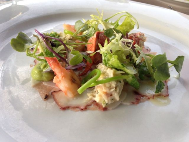 Salad with lobster!
