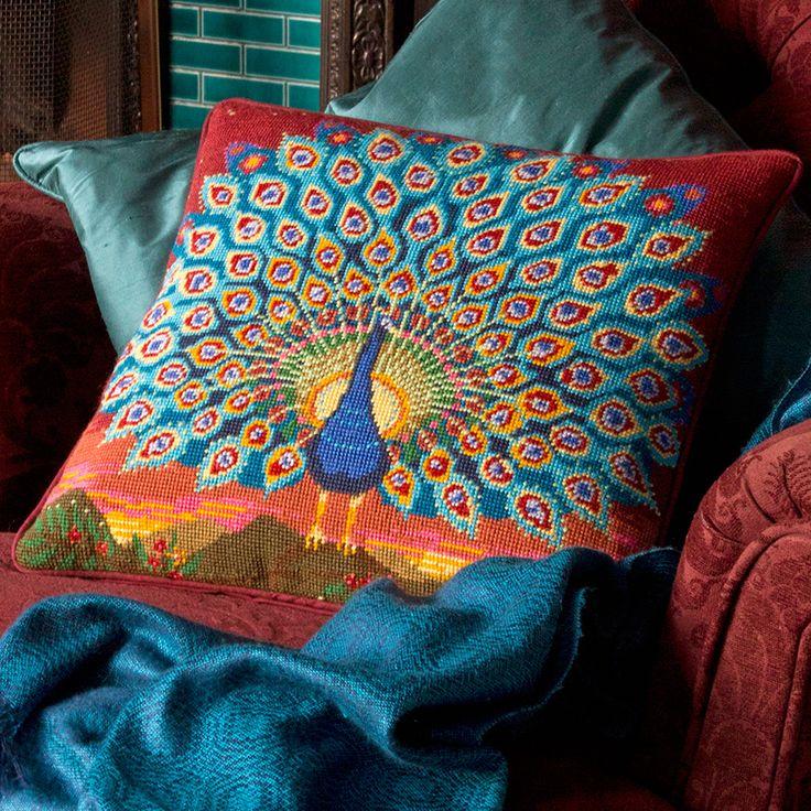 Peacock at Sunset - Ehrman Tapestry