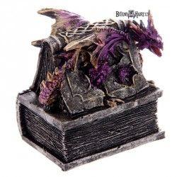 Gothická šperkovnice Book Dragon