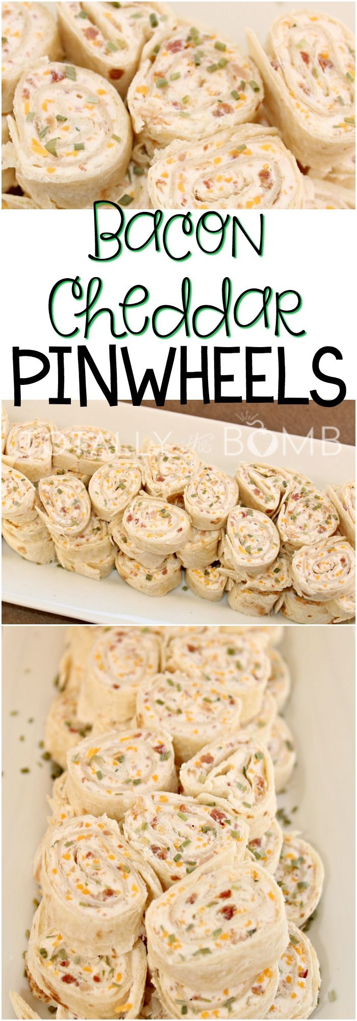 These Bacon Cheddar Pinwheels will be the best bacon filled appetizer you've ever made.