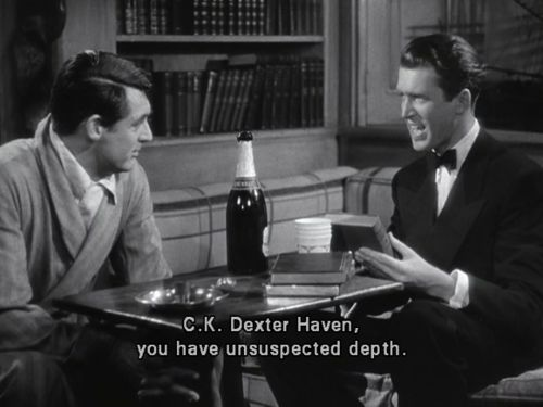 The Philadelphia Story (1940) --- featuring two of my favorite actors