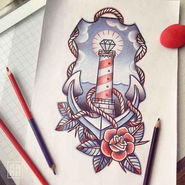 die 25 besten ideen zu leuchtturm tattoos auf pinterest. Black Bedroom Furniture Sets. Home Design Ideas