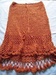 faldas  tejidas a crochet -