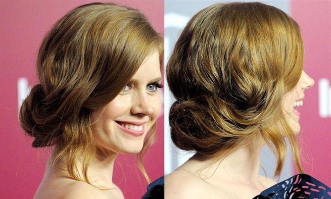 Recogido bajo despeinado. #peinado #recogido #cabello #pelo #hairstyle #celebrity #amyadams