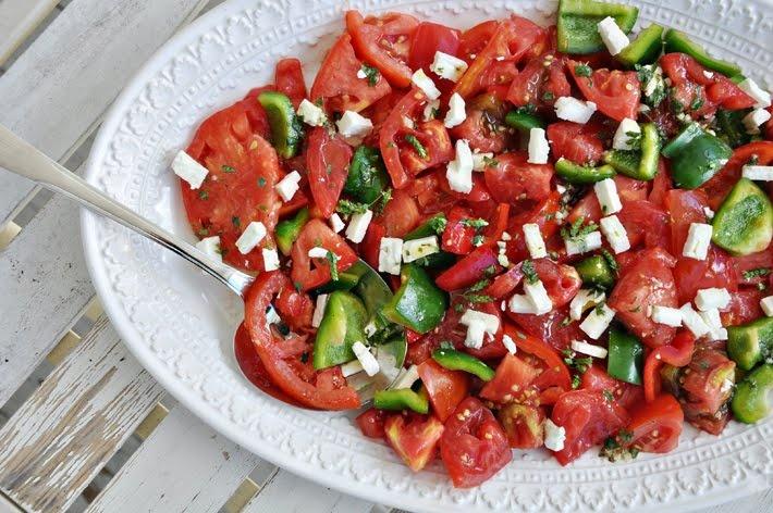 Heirloom Tomato Salad with Feta | salads | Pinterest