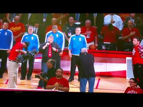 Nicholas Connors Anthem Rockets vs. Clippers - YouTube. God Bless America