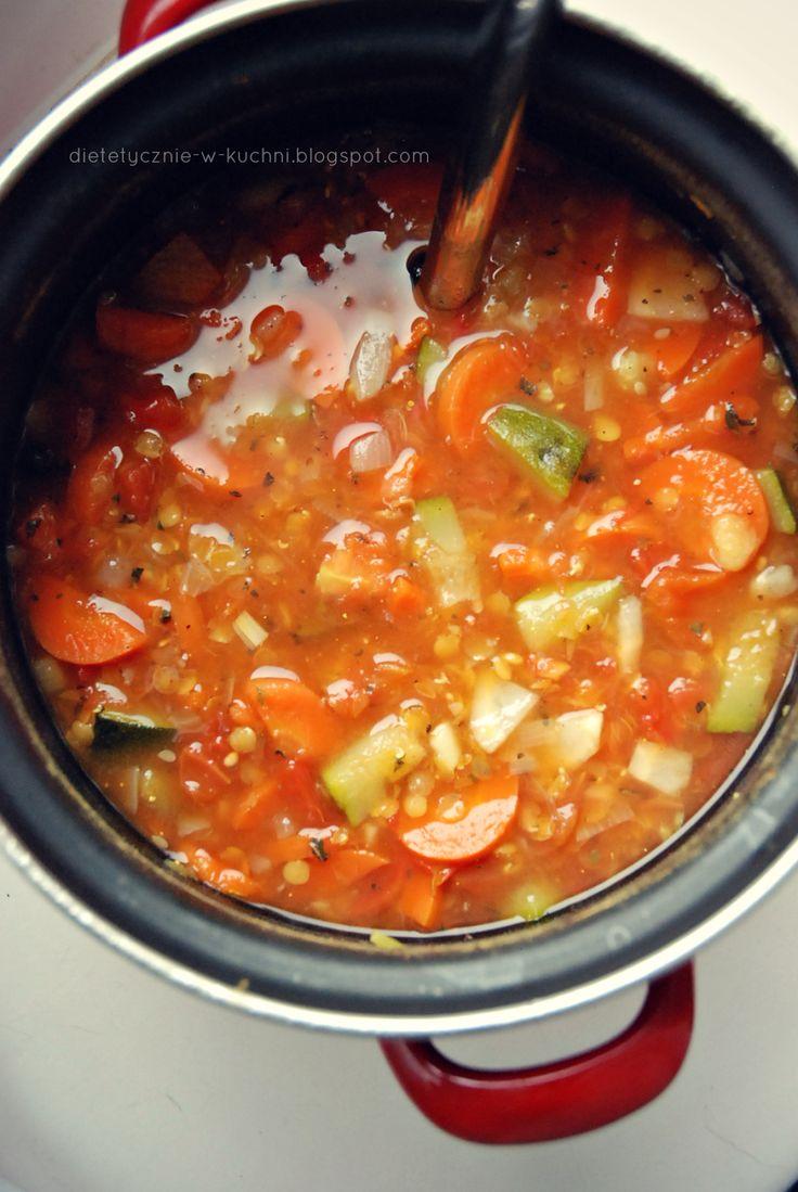 Moje Dietetyczne Fanaberie: Zupa curry z soczewicą i cukinią