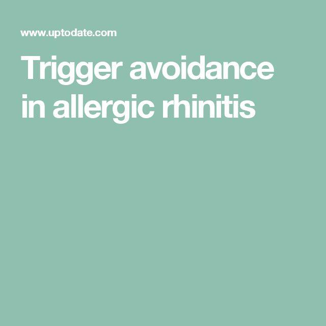 Trigger avoidance in allergic rhinitis