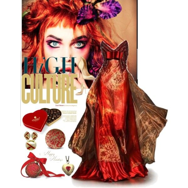 """""""rruby red meets the glamourus gold"""" by diaparsons on Polyvore"""