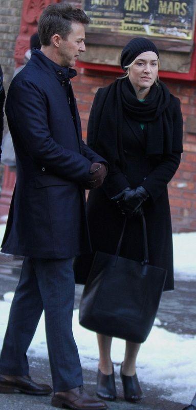 Снимается кино: Кейт Уинслет и Эдвард Нортон в Побочной красоте (11 фото)