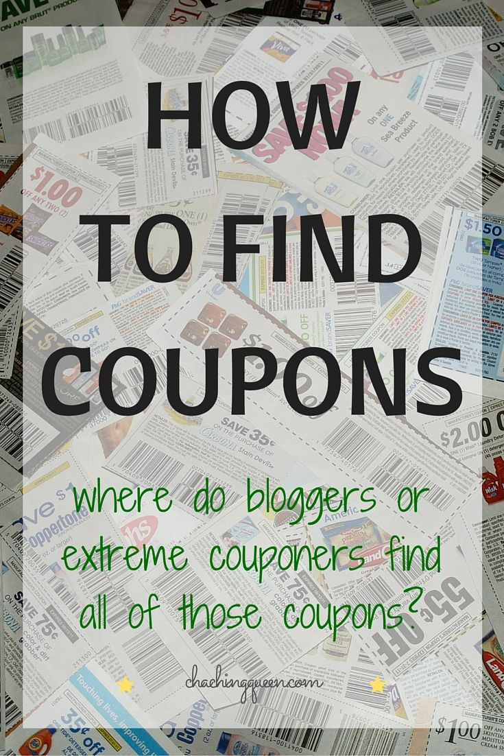 "I often get asked ""How do I find coupons?"" or ""Where do you get all of your coupons?""  Are you wondering that too?  Do you want to know where these bloggers or extreme couponers find all of those coupons?"