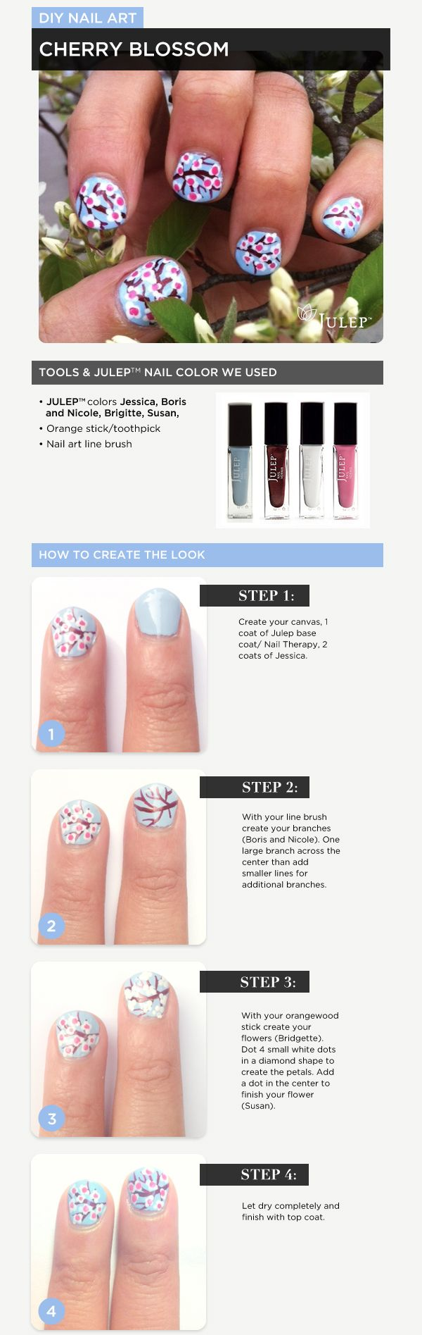 Nail of the Day: Cherry Blossom Tutorial #nails #tutorial