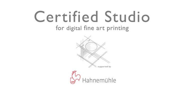 Certified Studios - Hahnemühle FineArt Nous sommes certifiés depuis janvier 2015 !!!  Claire & Marc