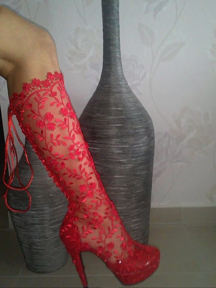Red sexy boots *join my new group best shoes, boots  heels♡⊰⊹✿ .....Excellent prices www.shoespie.com