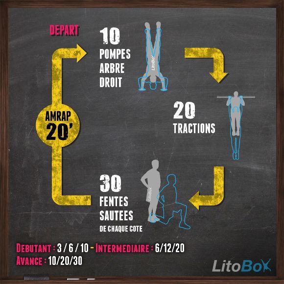 Séance de CrossFit au poids du corps : pompes verticales, tractions et fentes sautées !