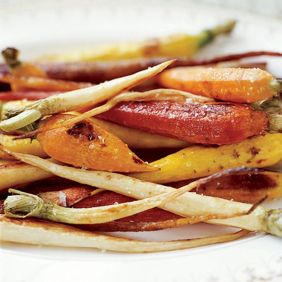 Tricolor Roasted Carrots and Parsnips | This gorgeous, lightly sweet salad is terrific with roasted chicken and great for a buffet.