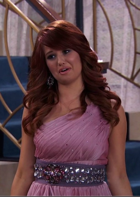 debby ryan debby ryan purple dress jessie debby ryan