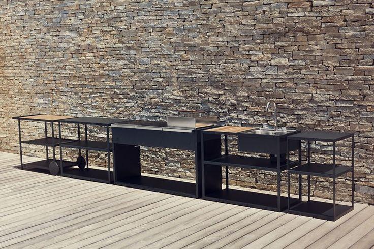 Outdoor-Küche aus Edelstahl Outdoor-Küche Garden Collection von Röshults
