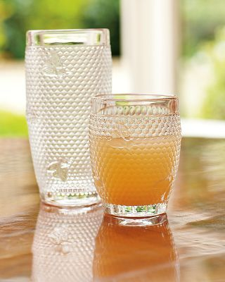 Honeycomb and bees pressed-glass tumblers $26 $34 #kitchen #tableware #drink glasses