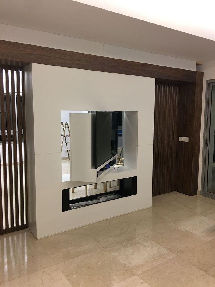 Rotating Tv Unit Rotating Unit Tv Stand Room Divider House Design Modern Tv Units