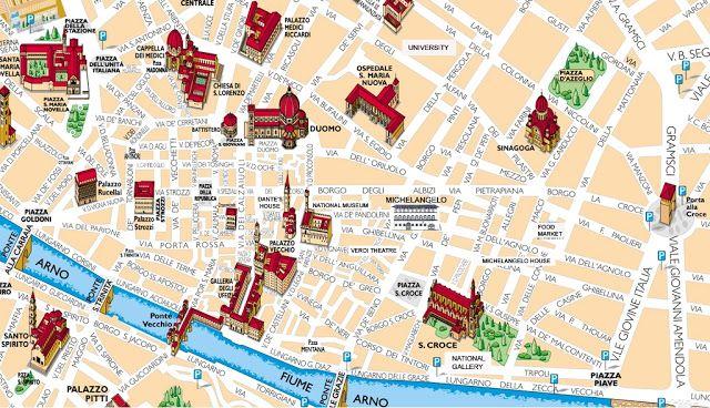 Pontos Turisticos Em Florenca 2020 O Turista Mapa Turistico