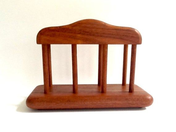 Vintage Goodwood Teak Wood Napkin Holder, Made in Thailand, Teak Napkin Storage