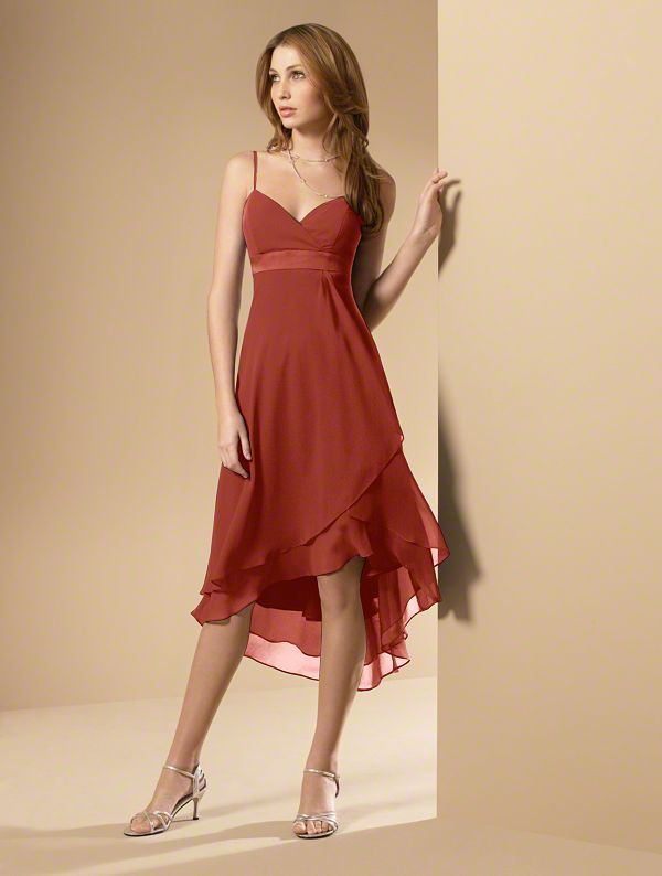 Bridesmaid dress option - Burnt Orange  Orange Dress #2dayslook #watsonlucy723 #OrangeDress  www.2dayslook.com
