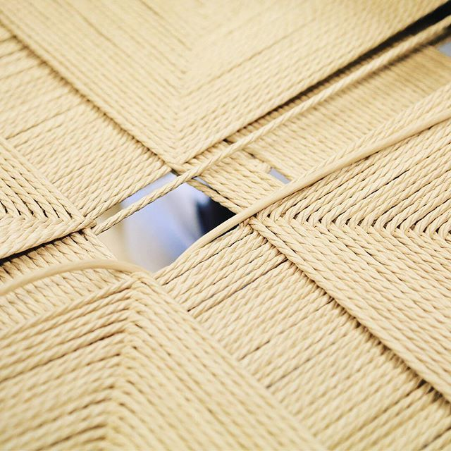 Details of the J39 chair - hand-woven paper cord seat made with 133 meters of cord.  #fredericiafurniture #amodernoriginal #designcraft #danishdesign #danskdesign #inthemaking #borgemogensen #børgemogensen #j39