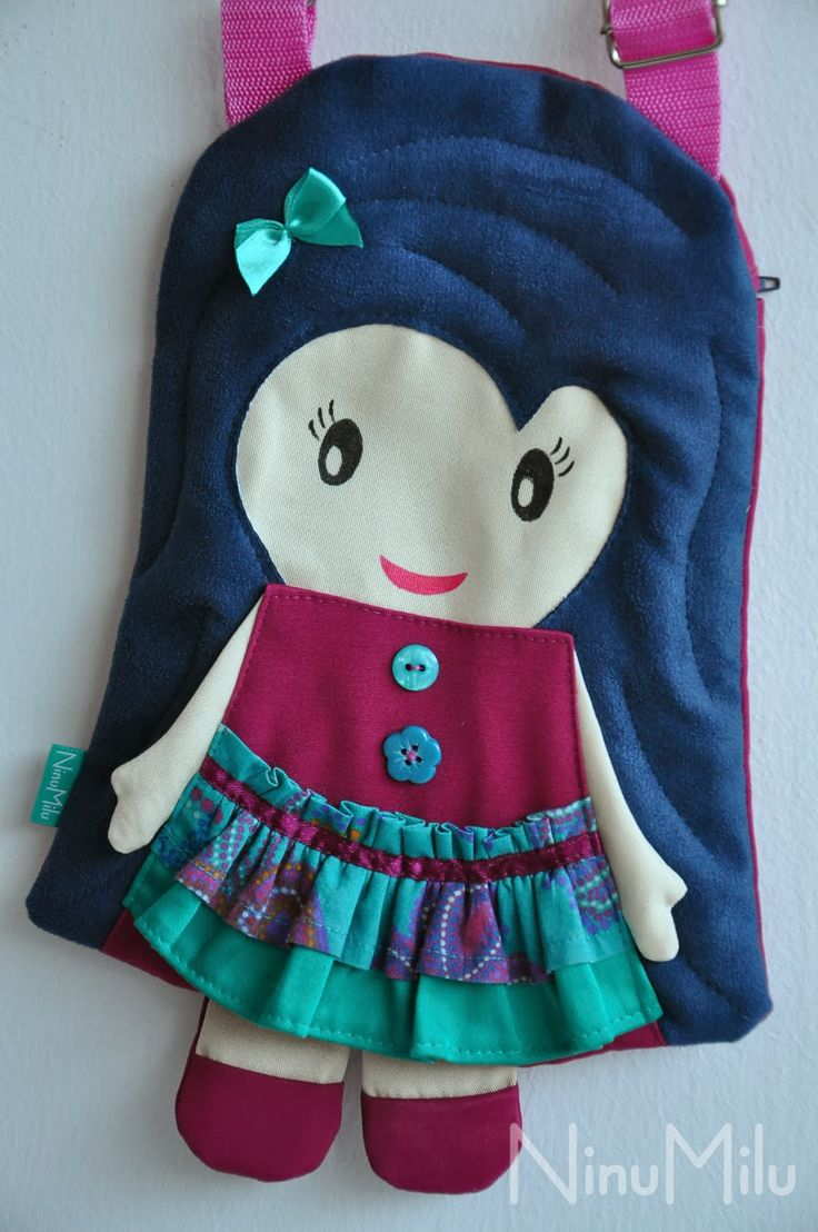 NinuMilu - torebki lalki - handbag dolls for girls: A może trochę turkusu?