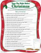 ... Christmas Trivia Games, Christmas Trivia Questions and Christmas Games
