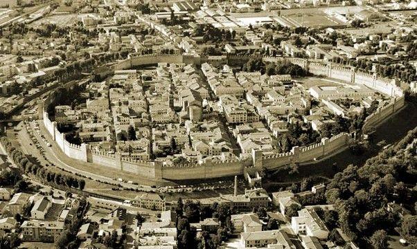 The medieval town of Cittadella, near Padova