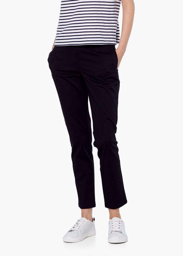 Stretch katoenen broek - Broeken voor Dames | MANGO