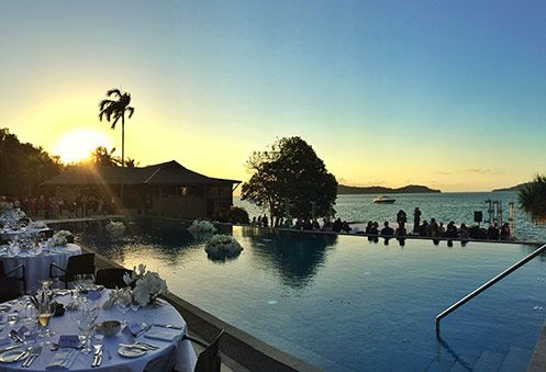 The Australian Ballet performs at #qualia. #hamiltonisland