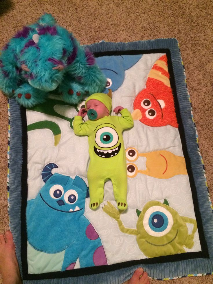Elijah in his Monsters inc room