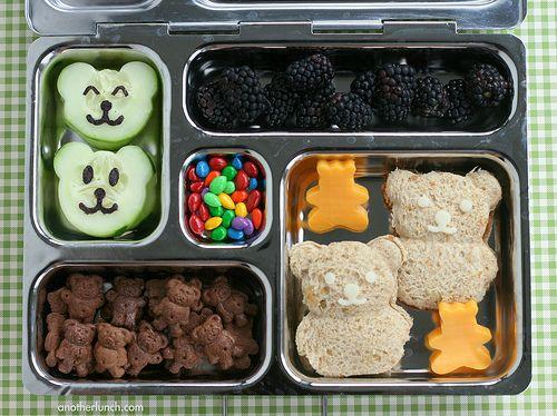 Teddy Bear Picnic PlanetBox lunch - Kindergarten Brown Day