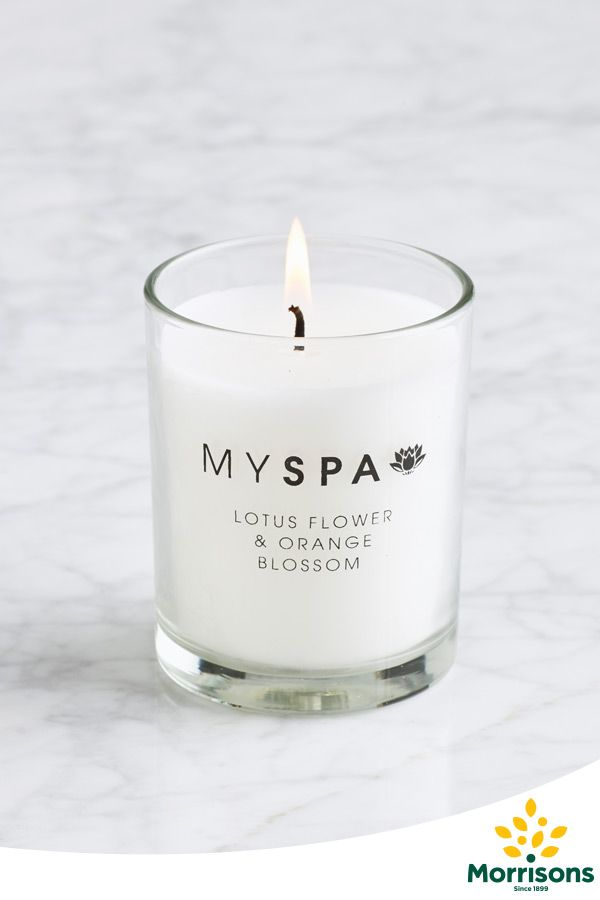Morrisons My Spa candle (lotus flower & orange blossom)