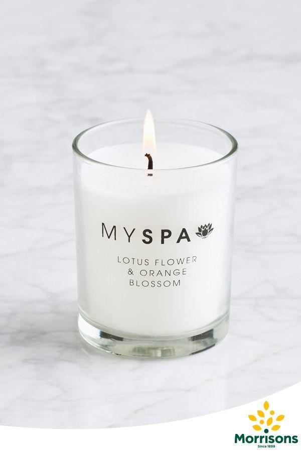 Morrisons My Spa candle (lotus flower & orange blossom)