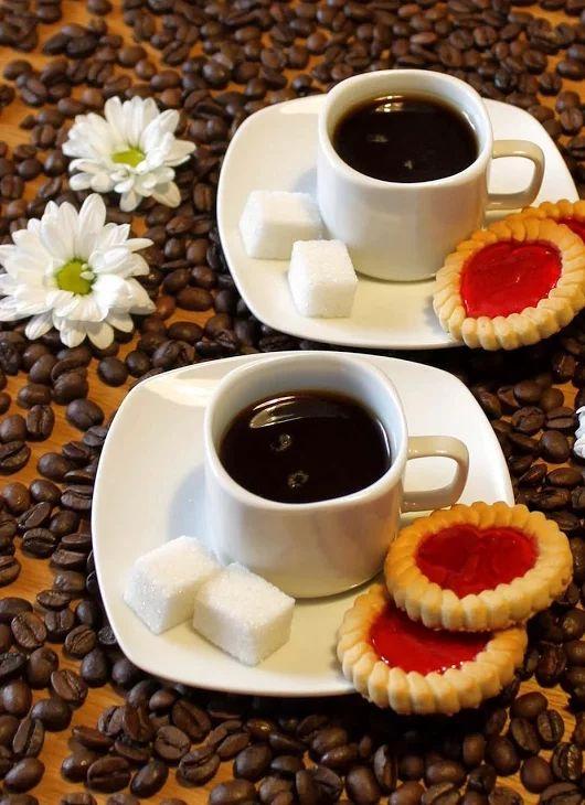 Открытки две чашечки кофе, моя нежность для