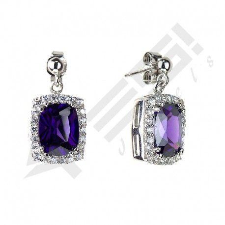 #amethyst #gemstone #purple #zirconia #earrings #sterlingsilver #trendy #buy #shopping #fashion #jewelry #gift #kupe #ametist #gumus #alisveris