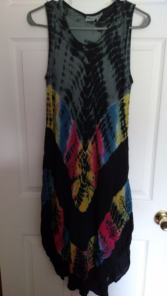 Indian Tropical Fashion Women's Free Size Summer Dress or Cover Up Sleeve Less  #IndianTropicalFashion #AsymmetricalHem #Casual