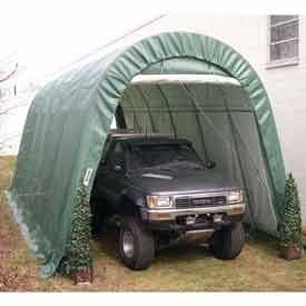 Green 14'W X 30'L X 12'H Round Portable Shelter by MDM PRODUCTS, LLC. $1035.00. Green 14'W x 30'L x 12'H Round Portable Shelter This Shelter is popular for storage of larger boats, trucks, and material storage. Keep your boat or SUVs protected from the elements and looking like new! No more washing your investment every it rains or snows. The way it looks when you put it in is the way it looks when you take it out. Our shelter is popular with boat enthusiast who are t...