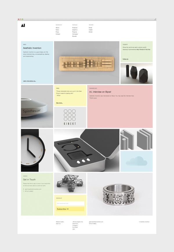 Aesthetic Invention by Hatch Inc., via Behance