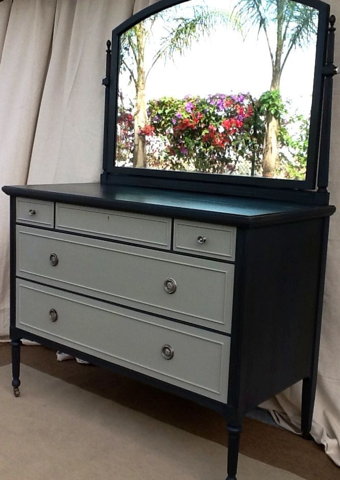 Large Dresser With Swing Mirror Painted With Annie Sloan S